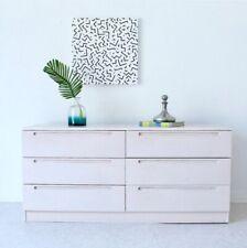 6 Drawer White Washed Oak Dresser