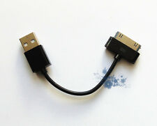 New Short USB Data Cable Sync Lead For iPhone 4S 4 4G 3GS 3, iPad Black UK