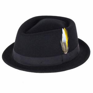 City Sport Caps Victor Pork Pie Hat - Black