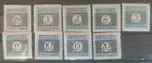 Croatia 1942 SG D67-72 Postage Due MH