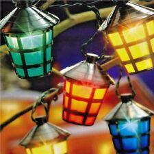 20 LED SOLARE FESTA LANTERNA GIARDINO luci di Natale Festività Esterno FILO FATA