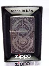 """ZIPPO """"SKULL SPIDER"""" - BLACK-NUOVO & OVP - #1121"""
