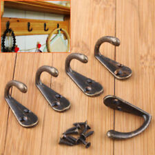 10X/SET Antique Brass Wall Mounted Hook Key Holder Letter Rack Hanger Decoration