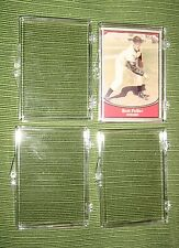Lot 4 Hinged Clear Plastic Display Boxes Packaging,Storage,Baseball,Cards,Coins
