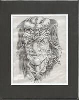 Original Hand-Drawn Tattoo Prison Art Wolfe 2000 Outsider Art sh