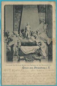 Strassburg: Gruss aus Strassburg i.E.! Denkmal Herzog Moritz! Stempel 2.3.1899!