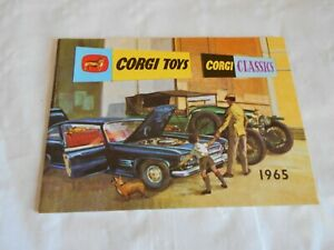 Corgi toys catalogue 1965 with french price list
