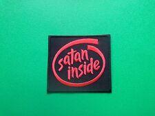 HEAVY METAL PUNK ROCK MUSIC FESTIVAL SEW ON / IRON ON PATCH:- SATAN INSIDE