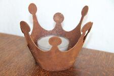 Saremo Rost Dekoration Deko Teelicht Windlicht Krone Krönchen neu Größe 2