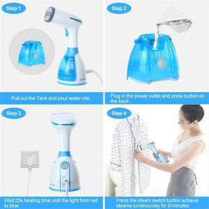1500W Heat-up Fabrics Garment Wrinkles Handheld Detachable Steamer for Clothes