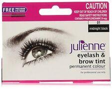 Julienne Eyelash and Eyebrow Permanent Midnight Black 01 Colour Tint 15ml …