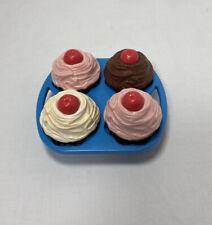 VTG FISHER PRICE Play Food Cupcakes Muffins Tikes Kitchen Baking Fun # 2151 1987