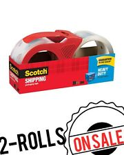 Scotch Shipping Packaging Tape With Dispenser 188 X 546 Yds Heavy Duty 2rolls