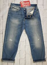 Edwin 12oz Heavy Duty Mid Blue Jeans Button Fly Straight Leg W36 L30 £170 New