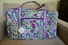 Vera Bradley Large Duffel Travel Bag in Plums Up Mickey