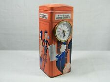 A Quartz Clock made from Reproduction Tin of the Red Telephone Box, Superb !
