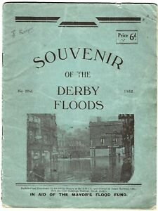 """1932 booklet """"Souvenir of the Derby Floods 22 May 1932"""" Published by YMCA"""