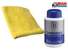 belgom chroom Cromo Pulido 250ml + Microfibra Paño de limpieza