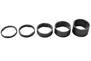 """1-1/8"""" OMNI Racer WORLDS LIGHTEST Carbon Headset Spacer Set 3,5,10,15,20mm MATTE"""