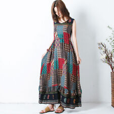 Zanzea Women Plus Summer Long Maxi Dress Sleeveless Sundress Tank Dress 5xl