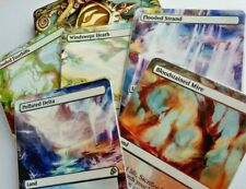10 Fetch Lands Full Art Land PACK Magic mtg altered art Polluted Delta