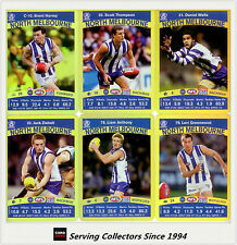 2010 AFL Teamcoach Trading Card Gold Parallel Team Set North Melbourne (10)