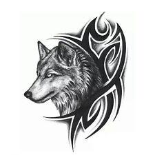 Halloween Wolf Head Temporary Tattoo Sticker Men Boby Removable Art/Arm Decor