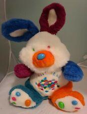 "Vintage Jelly Bean Bunny Rabbit Colorful Jellybean Easter 16"" Plush Stuffed"