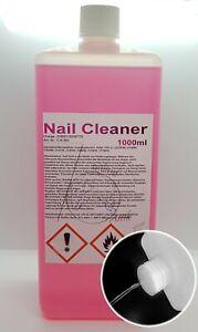 1000ml Nagel Cleaner Pink, Entfetter Gel Schwitzschichtentferner 1L Nail