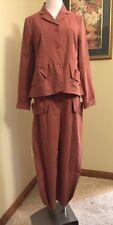 LILITH France GORGEOUS 2 Piece Stretch Cotton Jacket Pant Suit S 38 Pristine!