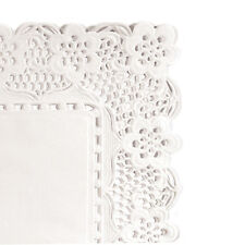 AZ boutique  Dentelles papier | Dentelle rectangulaire blanche en papier 40x30 c