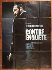 Affiche CONTRE-ENQUETE Franck Mancuso JEAN DUJARDIN Laurent Lucas 120x160cm *D