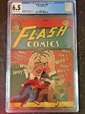 FLASH COMICS #82 CGC FN+ 9.5; OW-W; scarce!