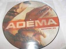 "ADEMA - GIVING IN / SHATTERED - UK 12"" PICTURE DISC VINYL - NU METAL"