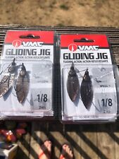 VMC GLIDING JIG=1/8 Oz.=WILLOW---2 ANTIQUE COPPER COLORED FISHING LURES Qty Two