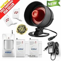 Alarm System Siren Security Remote Wireless Motion Sensor Door Home Apartment