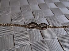 """BRAND>NEW>GOLD>COLOURED>CHAIN>WITH>INFINITY>SYMBOL>BRACELET>8 """"INCH"""