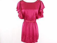See by Chloe - pink short sleeve belted silk tunic dress top - size 38 / 2