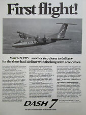 5/1975 PUB DE HAVILLAND AIRCRAFT CANADA DASH 7 AIRLINER FIRST FLIGHT ORIGINAL AD