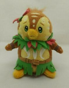 """Island Bruce Tiki Keyquest Brown Tan Green Neopets Plush 5"""" Toy Lovey 2008"""