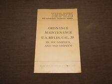 New listing Vintage 1947 Us Army War Dept Us Rifles Cal. .30 M1 M1C Sniper'S Book