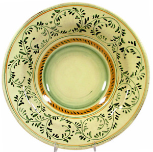 "Crate & Barrel EMILIA 14"" Round Serving Pasta Bowl Italian Pottery Italy 637-359"