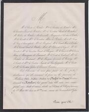 1865 Faire-part décès Maclovie de DURFORT de DURAS, Comtesse de ROTALIER.