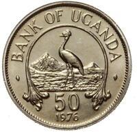 Bank of Uganda - Münze - 50 Cents 1976 - Stempelglanz UNC