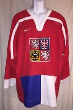 90's Czech Republic National Hockey Team Replica Jersey Size Adult Large by Nike