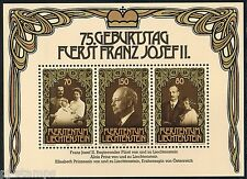 Liechtenstein blok 11 75ste verjaardag vorst Frans Josef II Cat waarde € 5,50