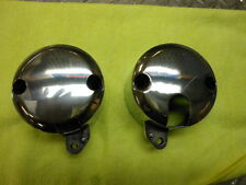 85-87 Kawasaki ZL900 ZL1000 Pro Polished Tach & Speedo Gauge Cup Mount Buckets