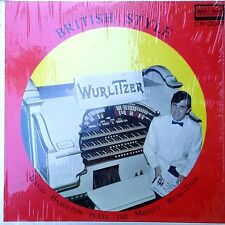 DAVID HAMILTON PLAYS THE MIGHTY WURLITZER - BRITISH STYLE - STEREO LP -SHRINK