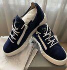 New-GIUSEPPE-ZANOTTI-Sneakers-Shoes-9-US-42-EU-Auth-100-Leather-Blue