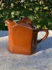 Vintage HALL POTTERY Brown Drip Miniature Square UNIQUE DESIGN Rare ❤️sj4j